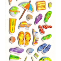 ACCEssoire plage mer chaussures coquillage gommette sticker adhesive rigide jf1288