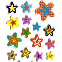 Gommettes Noel Etoiles Multicolores 3D