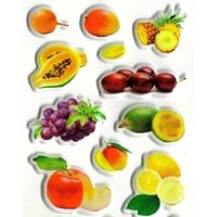 Gommettes autocollantes Fruits Exotiques 3D