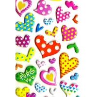 Gommettes Coeurs Multicolores  3D