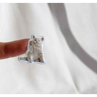 chatons mignons chat gommette autocollante sticker scrapbooking decoration enfant detail JF 1192