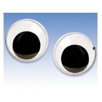 12 Yeux Mobiles Adhésifs diamètre 20mm