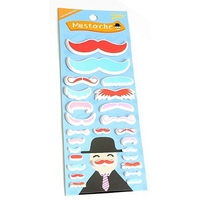 Stickers Moustache 3D rouge