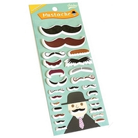 Stickers 3D moustache noire