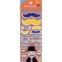 Stickers Moustache 3D Bleu- Fête des Pères