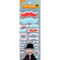 Stickers 3D Moustache Rouge