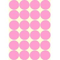 24 gommettes maternelle rose 30mm