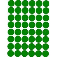 48 Gommettes Autocollantes rondes 25mm Verte