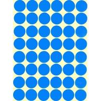 48 Gommettes Rondes Bleu 25mm