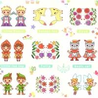 Stickers Chaperon Rouge et Autres Contes 20cmx 10cm