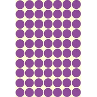 70 stickers ronds maternelle Mauve 19mm
