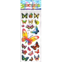papillons gommette adhesive sticker decoration scrapbooking emballage rigide JF1246