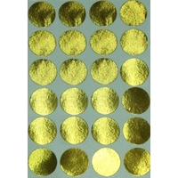 24 Pastilles Rondes Or 30 mm mates