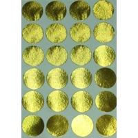 24 Pastilles Rondes Or 30mm