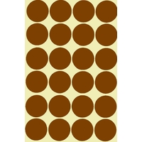 24 gommettes géantes marron 30mm