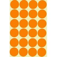 24 gommettes géantes orange 30mm