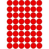 48 Gommettes rondes Rouges 25mm