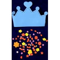 couronne mousse autocollante bleu