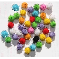 40 pompons scintillants