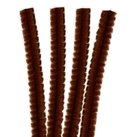 4 Fils chenille Cure Pipe 30cm Marron