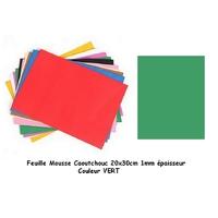 Plaque Mousse Plastique  Vert 1mm 24x24mm
