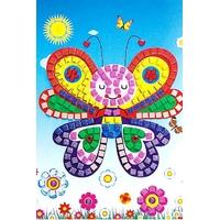 Mosaique Autocollante Strass et Paillettes Papillon