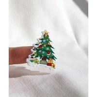 noel papa noel cadeaux fete gommette autocollant stickers enfant decoration scrapbooking detail  JF 1377