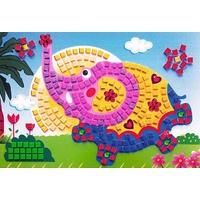 Mosaique Autocollante Paillette et Strass Elephant