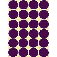 24 gommettes Violet foncé 30mm