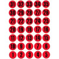 35 Pastilles Chiffres 15mm Calendrier de l'Avent
