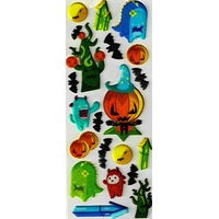 Stickers Halloween 3D Paillette