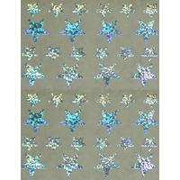 40 Gommettes Etoiles Irisées Argent 1,2 et 2,2cm