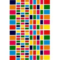 140 Gommettes Rectangle Multicolores