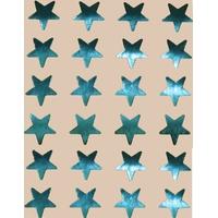 24 Gommettes Etoiles Métal Bleu 2cm
