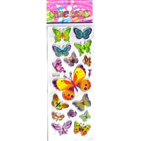 papillons gommette adhesive sticker decoration scrapbooking emballage rigide JF1242