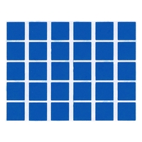 30 Gommettes Carré 2x2cm Bleu