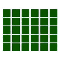 30 gommettes carré vertes 2x2cm