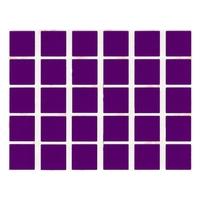 30 gommettes carré mauve 2x2cm