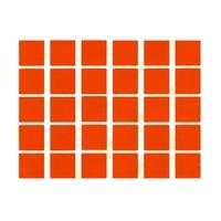 30 gommettes carré 2x2cm orange