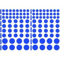 104 gommettes, taille varié, Bleu