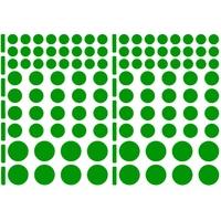104 gommettes rondes 3 tailles, Vert