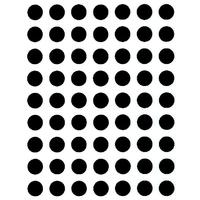 88 Pastilles de classement 10mm noir