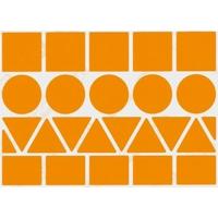 23 Grosses Gommettes Géométriques Orange