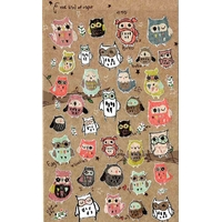 Stickers kawaii chouette
