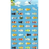 40 Stickers Petit Poisson Deviendra Grand