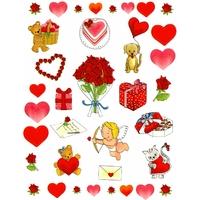 36 Gommettes Coeur Parfumées à la Fraise