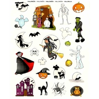 Stickers Halloween Phosphorescents 16x21cm