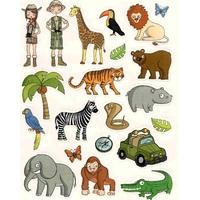 Gommettes animaux de la jungle 16x21cm