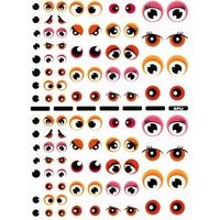104 gommettes yeux