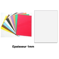 Feuille Mousse Blanc  1mm 24x24mm